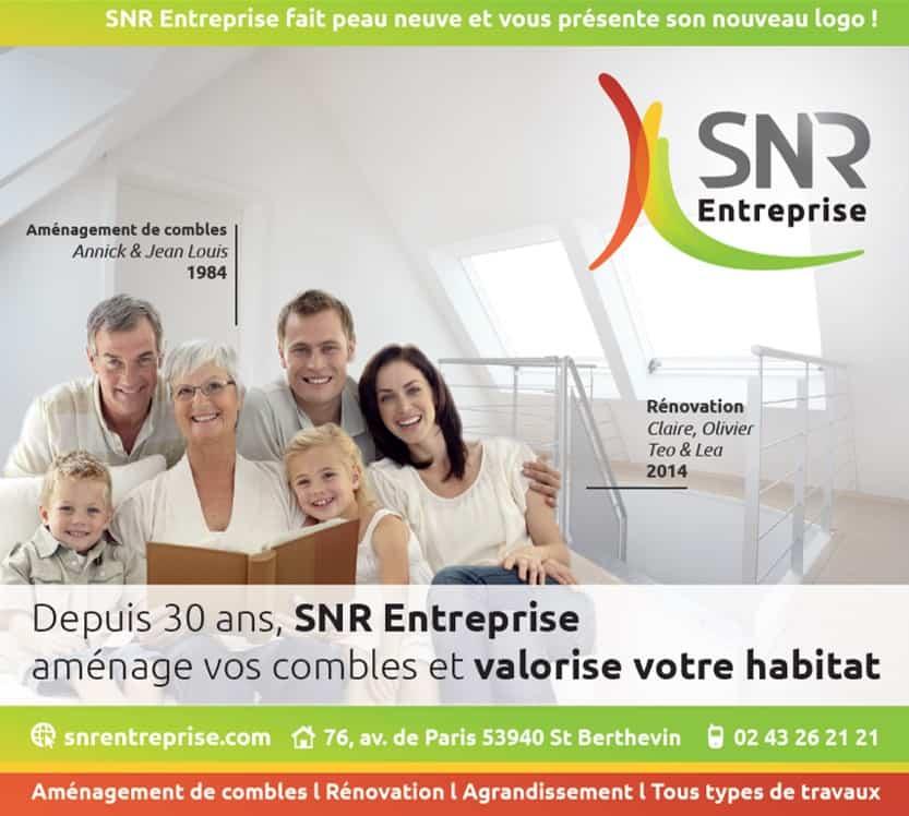 Nouveautés : nouvelle parution Ouest-France pour SNR Entreprise. En cette rentrée, nous avons le plaisir de vous présenter notre nouveau logo, et notre nouvelle parution!