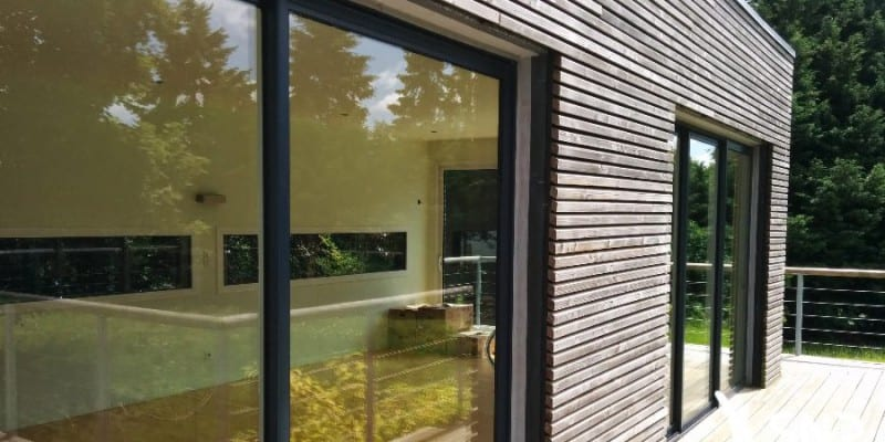 Extension maison le bardage bois massif pl biscit for Extension bardage