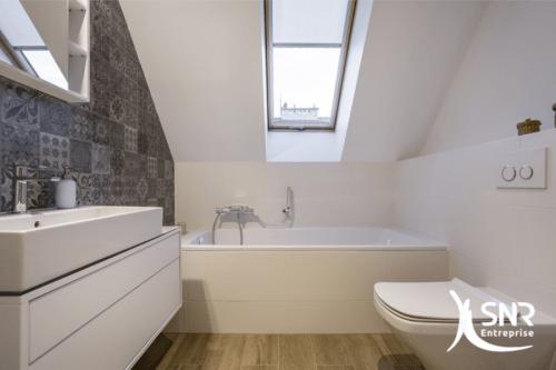 Refaire sa salle de bain avec SNR Entreprise professionnel RGE tous corps d'états en Mayenne et Ille-et-Vilaine