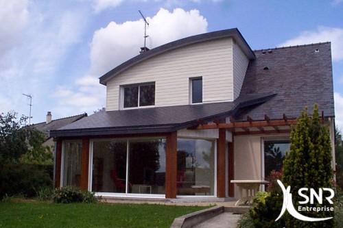 Extension bois en Mayenne (53) et Ille-et-Vilaine (35) par SNR Entreprise. SNR Entreprise, entreprise de rénovation, spécialiste de l'agrandissement de maison depuis 1984.