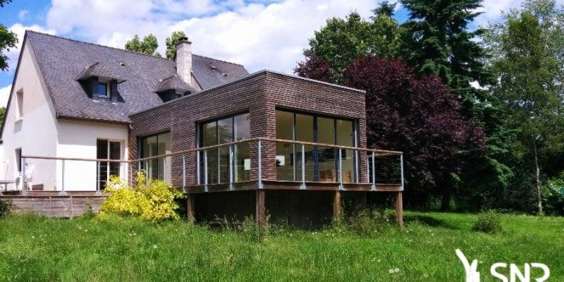 Favori Une toiture terrasse pour mon agrandissement maison mayenne FO27