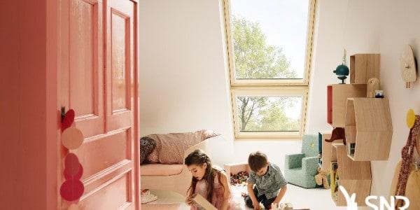 Pose de Velux balcon verrière par SNR Entreprise. Aménager combles pour création chambre supplémentaire.