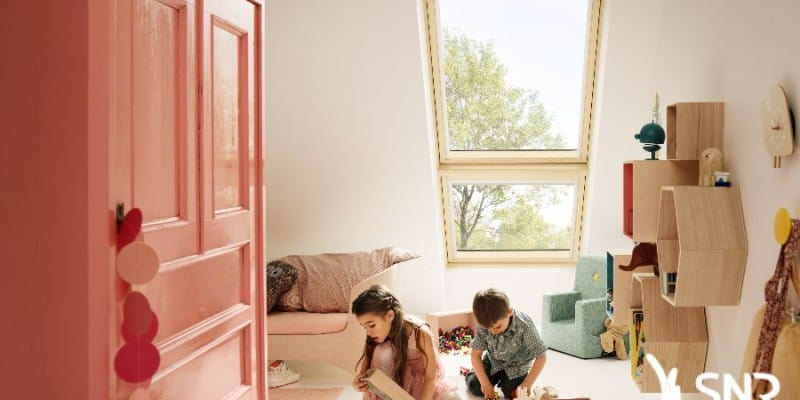 am nager des combles pour cr er une chambre d enfant. Black Bedroom Furniture Sets. Home Design Ideas