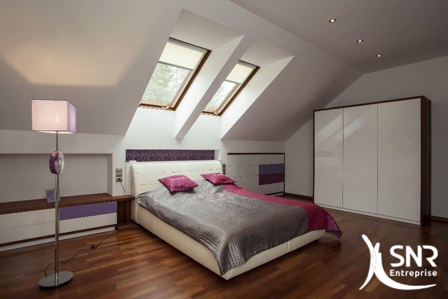 Aménagement chambre dans grenier par SNR Entreprise en Mayenne (53) et Ille-et-Vilaine (35).