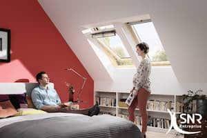 Optimisation de l'espace sous le toit. Aménagement grenier avec SNR Entreprise.
