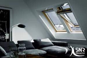 Depuis 2003, SNR Entreprise est certifié Velux Pro et prend en charge la pose de Velux et la pose de volet roulant Velux.