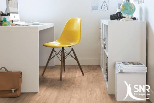 rénovation appartement pose de parquet stratifié Mayenne Ille et Vilaine SNR Entreprise