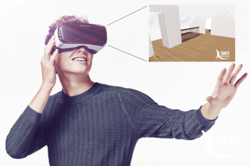 SNR casque réalité virtuelle comble en 3D SNR Entreprise Laval Saint Malo