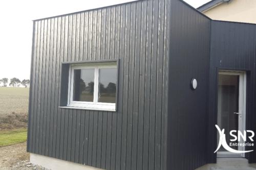 agrandissement maison mayenne SNR Entreprise ossature bois 53 35