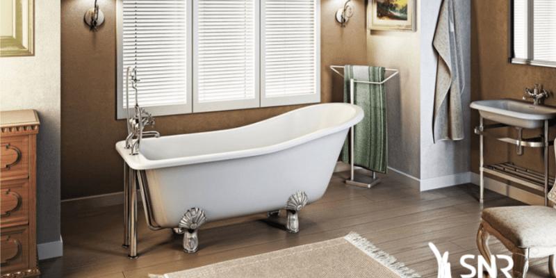 refaire sa salle de bain avec une baignoire sur pied avec snr entreprise. Black Bedroom Furniture Sets. Home Design Ideas