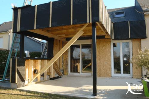 Agrandissement maison laval ossature bois projet réalisé par SNR Entreprise