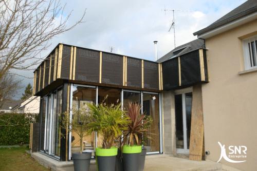 Agrandissement ossature bois laval entreprise générale du bâtiment SNR Entreprise