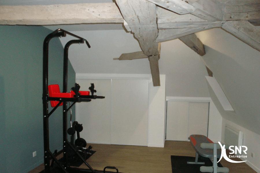Création d une salle de sport dans le cadre d un projet de renovation maison rennes par SNR Entreprise