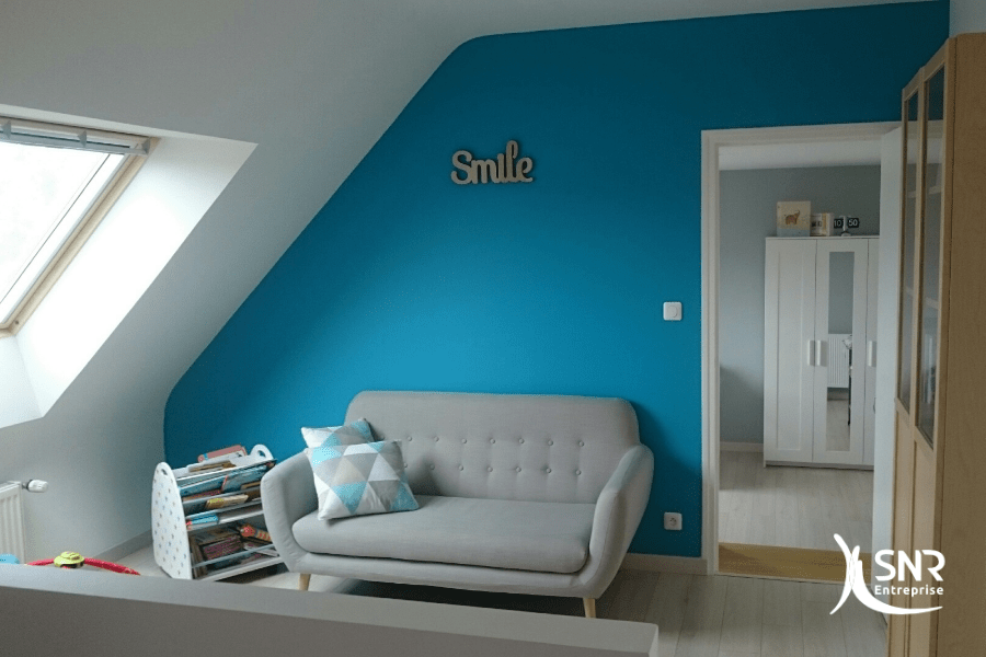 amenagement de combles sur garage et creation d une mezzanine. Black Bedroom Furniture Sets. Home Design Ideas
