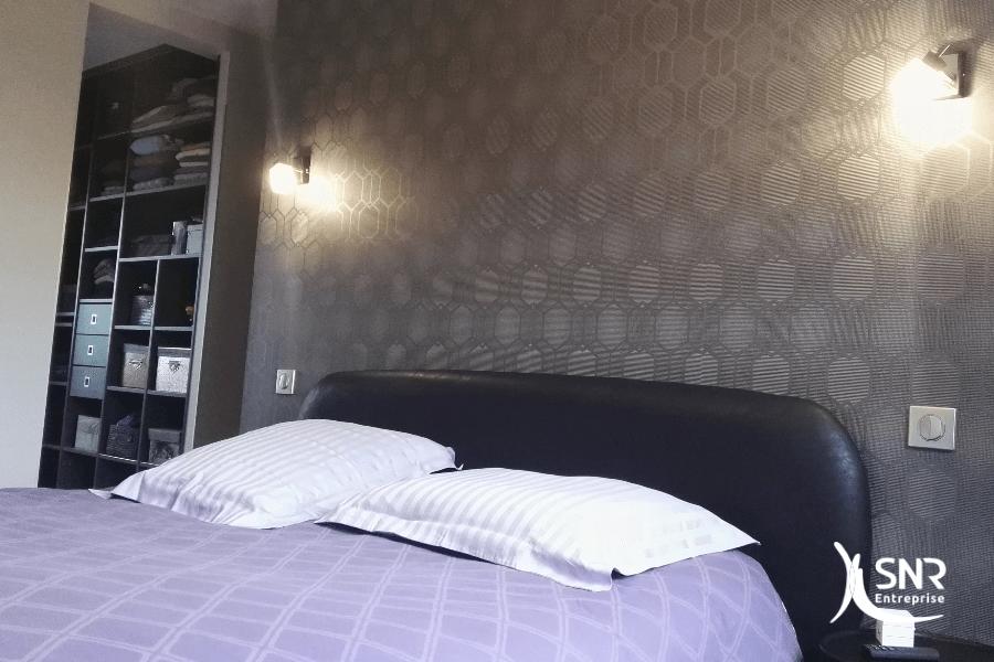 Création d une suite parentale avec dressing et salle de bain par SNR Entreprise renovation maison rennes