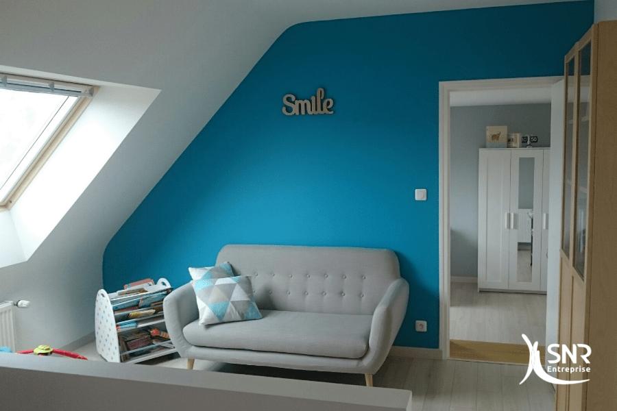 Création d'une mezzanine dans des combles aménagés en Ille et Vilaine par SNR Entreprise