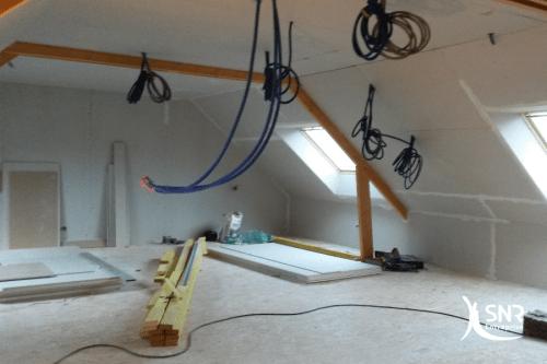 Isolation placo pose Velux SNR Entreprise spécialiste de la rénovation maison saint-malo
