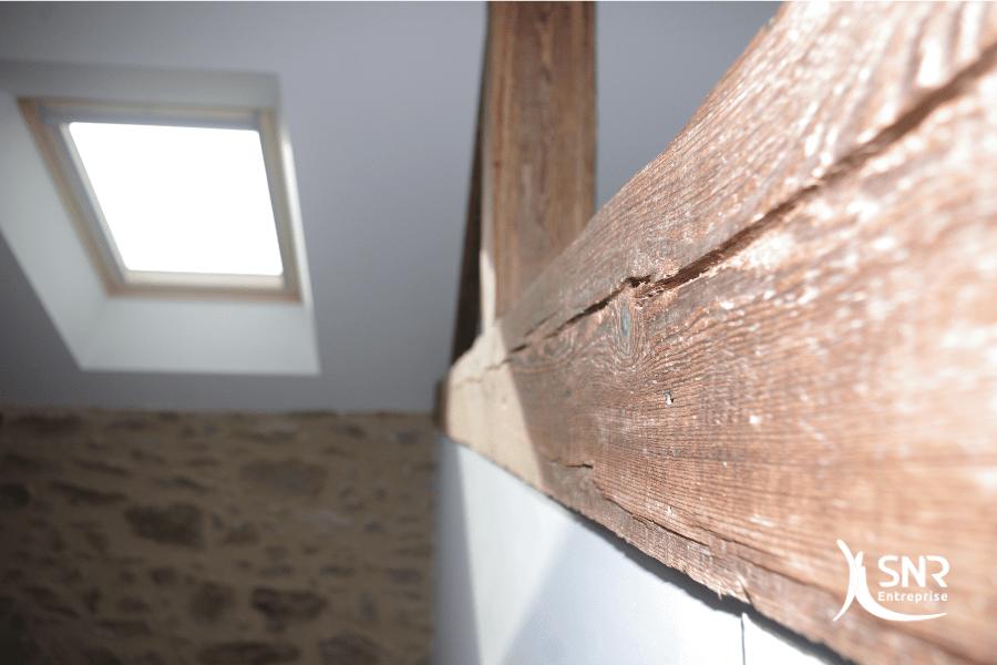 Pour votre projet de rénovation maison laval pensez à mettre en valeur les pièces de charpente bois