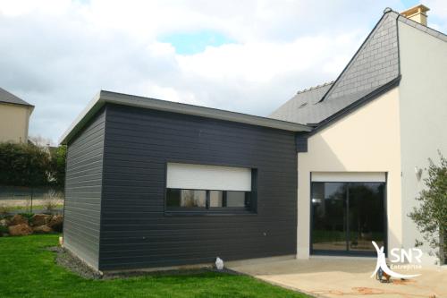 Réalisation de travaux d agrandissement ossature bois saint-malo SNR Entreprise