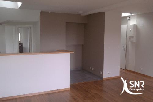 Rénovation intégrale d'un appartement avec SNR Entreprise professionnel RGE pour vos projets de rénovation maison vitré