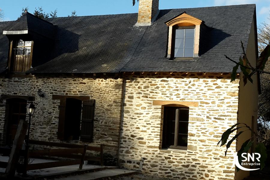 Vue apès réalisation des travaux d extension maison laval par SNR Entreprise