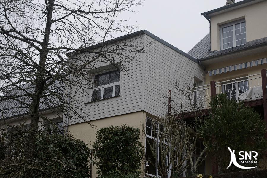 Vue après réalisation de travaux d extension maison laval par SNR Entreprise