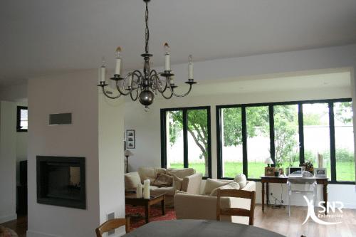 Vue intérieure de l agrandissement maison laval réalisé par SNR Entreprise