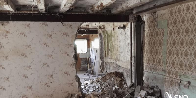 Réalisation des travaux de démolition évacuation dans le cadre du projet de rénovation maison saint-malo