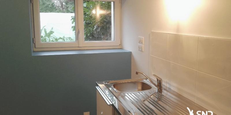 Vue après travaux de renovation maison laval par SNR Entreprise spécialiste depuis 1984