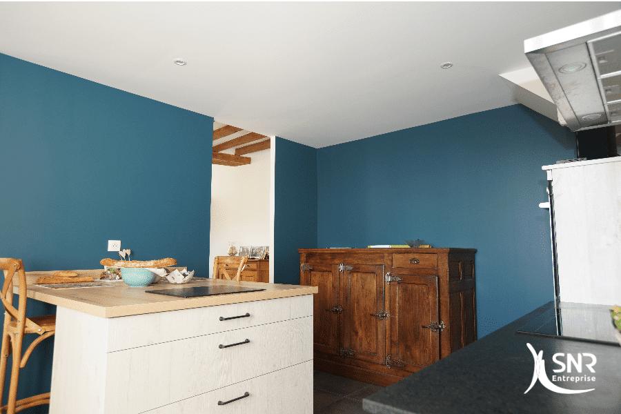 Création d'une nouvelle cuisine dans le cadre d'un projet de rénovation de longère en Mayenne