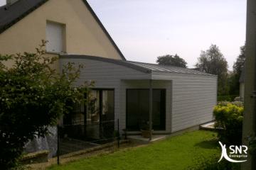 Extension maison en bois par SNR Entreprise expert de vos projets depuis 1984