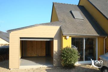 Renovation maison laval avec fermeture d un garage en bardage bois