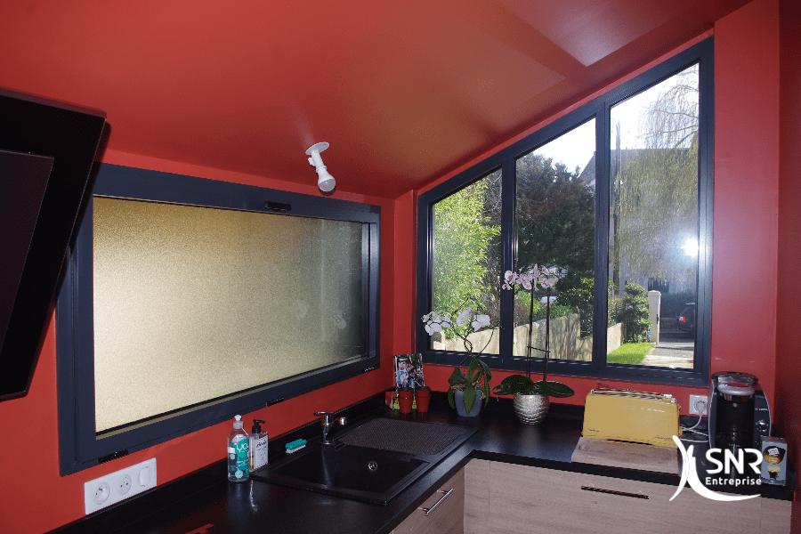 Utilisation de l extension maison afin d y loger une nouvelle cuisine avec vue sur l extérieur